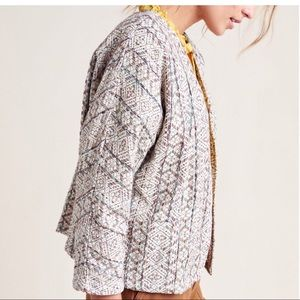NWT dra Los Angeles Anthropologie textured jacket